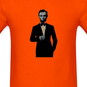 ABRAHAM LINCOLN ON THE TOWN IN MASK  - Men's T-Shirt
