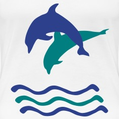 Dolphins, Women's T Shirt