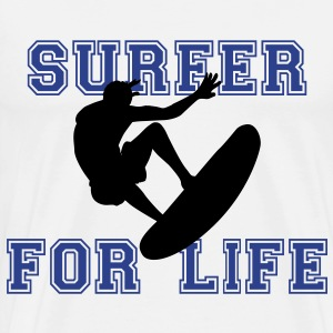 surfer for life T-Shirts - Men's Premium T-Shirt