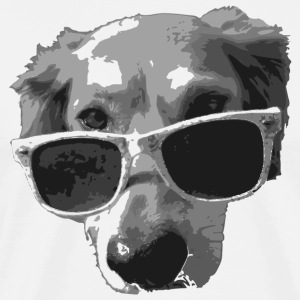 sunglasses dog cool pet sun glasses T-Shirts - Men's Premium T-Shirt