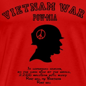 Vietnam War POW-MIA: 2255 Soldiers still missing. T-Shirts - Men's Premium T-Shirt