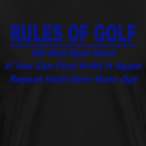 Rules Of Golf - Men's Premium T-Shirt