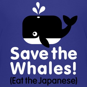 Save the Whales! Eat the Japanese Kids' Shirts - Kids' Premium T-Shirt
