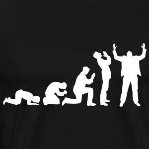 Evolution of praying T-Shirts - Men's Premium T-Shirt