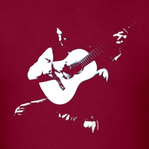 Guitarist white musicians artwork T-Shirts - Men's T-Shirt