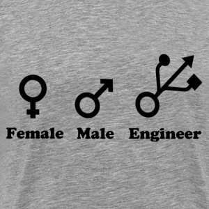 Female, Male, Engineer - Men's Premium T-Shirt