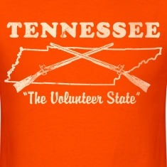 Tennessee, the volunteer state mens vintage T