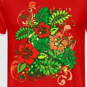Hibiscus_Growth - Men's Premium T-Shirt