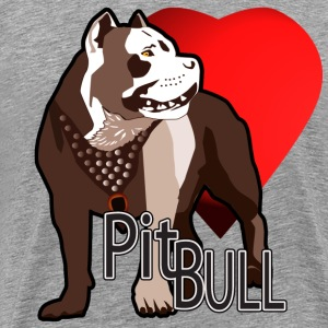 I Love My Pitbull - Men's Premium T-Shirt