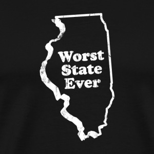 ILLINOIS - WORST STATE EVER T-Shirts - Men's Premium T-Shirt