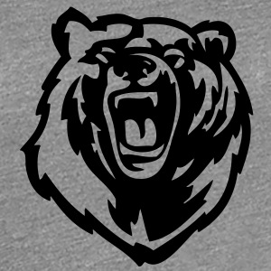 Grizzly Bear VECTOR Women's T-Shirts - Women's Premium T-Shirt