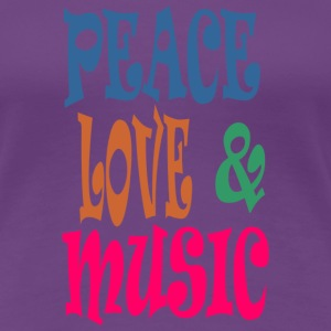 Peace love  n music - Women's Premium T-Shirt