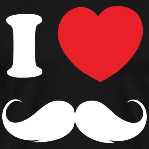 I Love Moustache - Men's Premium T-Shirt