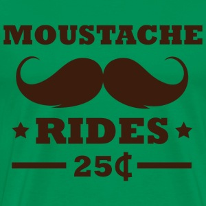 Moustache Rides - Men's Premium T-Shirt