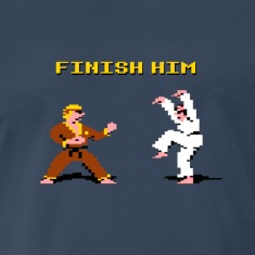 8 bit Karate Kid Finish Him Shirt