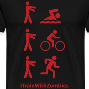 iTrainWithZombies - Triathlon - Men's Premium T-Shirt