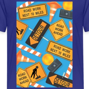 Construction Signs Kid's Shirt - Kids' Premium T-Shirt