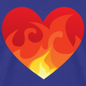 Heart with fire - Men's Premium T-Shirt