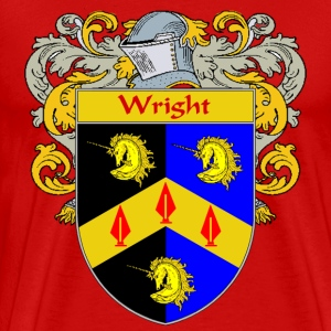 Wright Coat of Arms/Family Crest - Men's Premium T-Shirt
