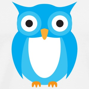 Blue Owl Cartoon T-Shirts - Men's Premium T-Shirt