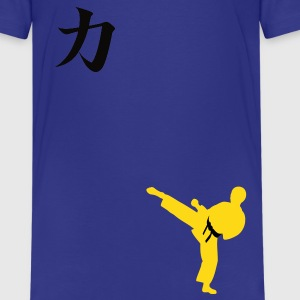 Meaning of Martial Arts: Strength boys T shirt in royal blue - Kids' Premium T-Shirt