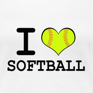 Women's I Heart Softball T-Shirt - Women's Premium T-Shirt