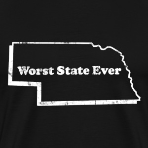 NEBRASKA - WORST STATE EVER T-Shirts - Men's Premium T-Shirt