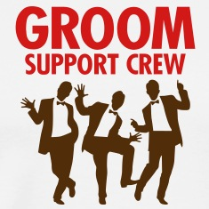 Groom Support Crew 1 (2c)++ T-Shirts