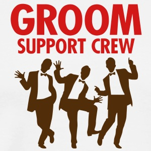 Groom Support Crew 1 (2c)++ T-Shirts - Men's Premium T-Shirt