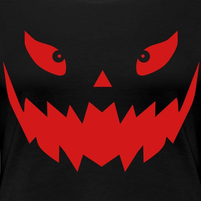 Really scary Halloween pumpkin face | Women's Premium T-Shirt