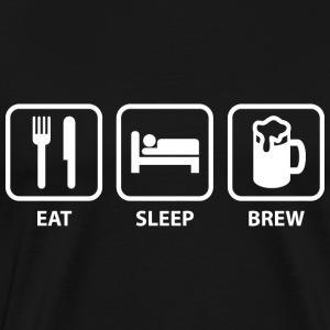 Eat Sleep Brew - Men's Premium T-Shirt
