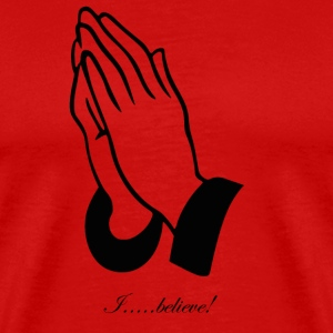 Prayer: I believe! T-Shirts - Men's Premium T-Shirt