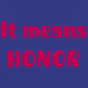 Meaning of Martial Arts: It means honor girls shirt in turquoise - Kids' Premium T-Shirt