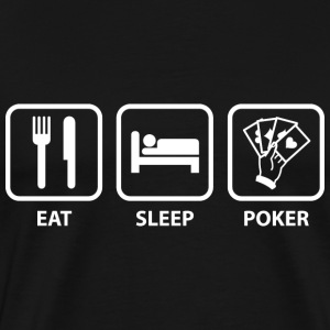 Eat Sleep Poker - Men's Premium T-Shirt