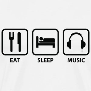 Eat Sleep Music - Men's Premium T-Shirt