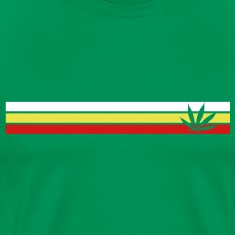jamaica, hemp, grass smoke pot, joint, dowel, , T-Shirts