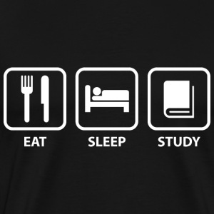 Eat Sleep Study - Men's Premium T-Shirt
