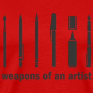 Weapons of an Artist! - Men's Premium T-Shirt