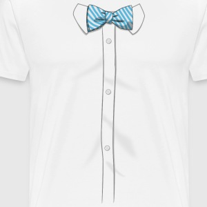 Fake Bow Tie Shirt - Men's Premium T-Shirt