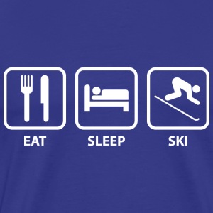 Eat Sleep Ski - Men's Premium T-Shirt