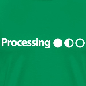 Processing on Mint Green - Men's Premium T-Shirt