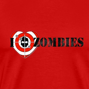 I love shooting zombies - Men's Premium T-Shirt