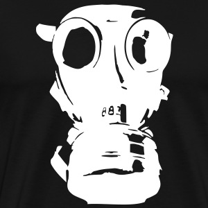 gas mask, skull, skull, respiratory protection,  T-Shirts - Men's Premium T-Shirt
