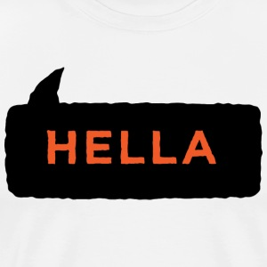 Hella Shirt Black Orange - Men's Premium T-Shirt