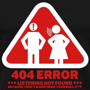 ERROR 404 listening not found - Men's Premium T-Shirt