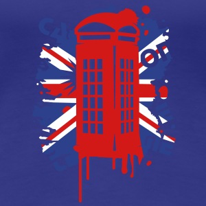 red telephone box with a British flag Women's T-Shirts - Women's Premium T-Shirt
