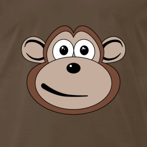 Cartoon Monkey Face - Men's Premium T-Shirt