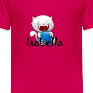 Isabella cute little white kitten girls shirt Kids - Kids' Premium T-Shirt