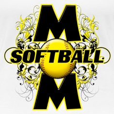 Softball Mom (cross) Women's T-Shirts