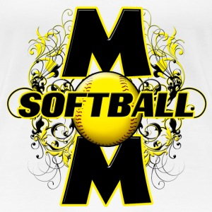 Softball Mom (cross) Women's T-Shirts - Women's Premium T-Shirt